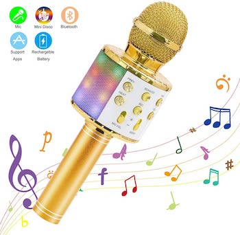 Ankuka Wireless Kids Karaoke Wireless Microphone