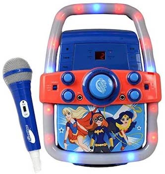 DC Super Hero Portable Karaoke Machine Speaker System and Microphone