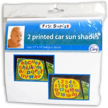 First Steps Pack of 2 Printed Car Sunshades for car