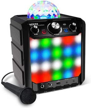 ION Audio Party Rocker Express karaoke machine and microphone for kids