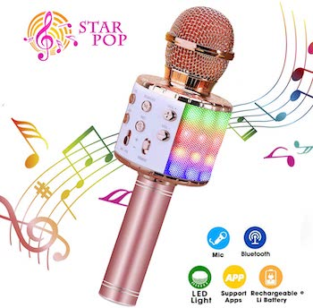 ShinePick 4in1 Karaoke Wireless Microphone