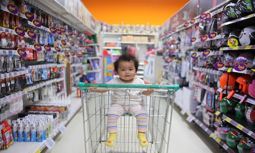 what age can babies sit in a trolley
