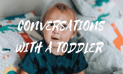 WHEN CAN YOU HAVE CONVERSATIONS WITH A TODDLER