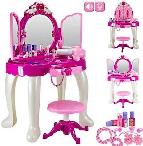 Deluxe Girls Pink Musical Dressing Table