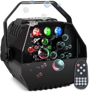 AONCO Bubble Machine With Led Lights For Kids Parties