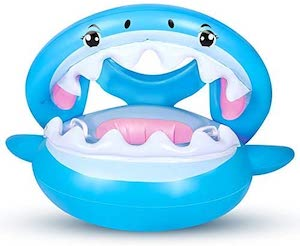 Flyboo Sunshade Shark Floating Toy and Pool Ring