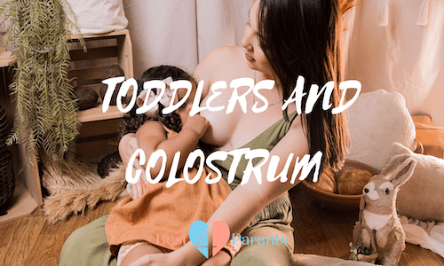 toddler getting colostrum
